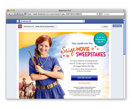 4- American Girl Facebook Web Pages